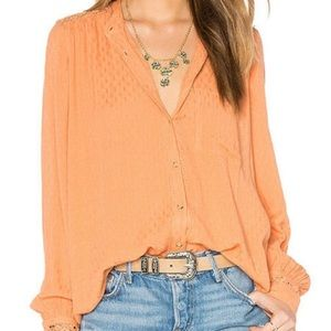 🎀 Free People • The Best Button Front Blouse